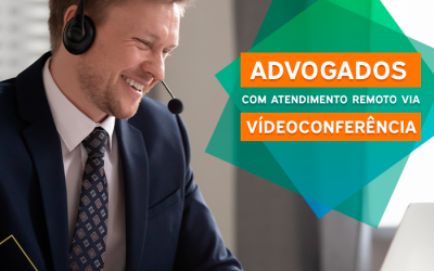 Advogados com atendimento remoto via videoconferência